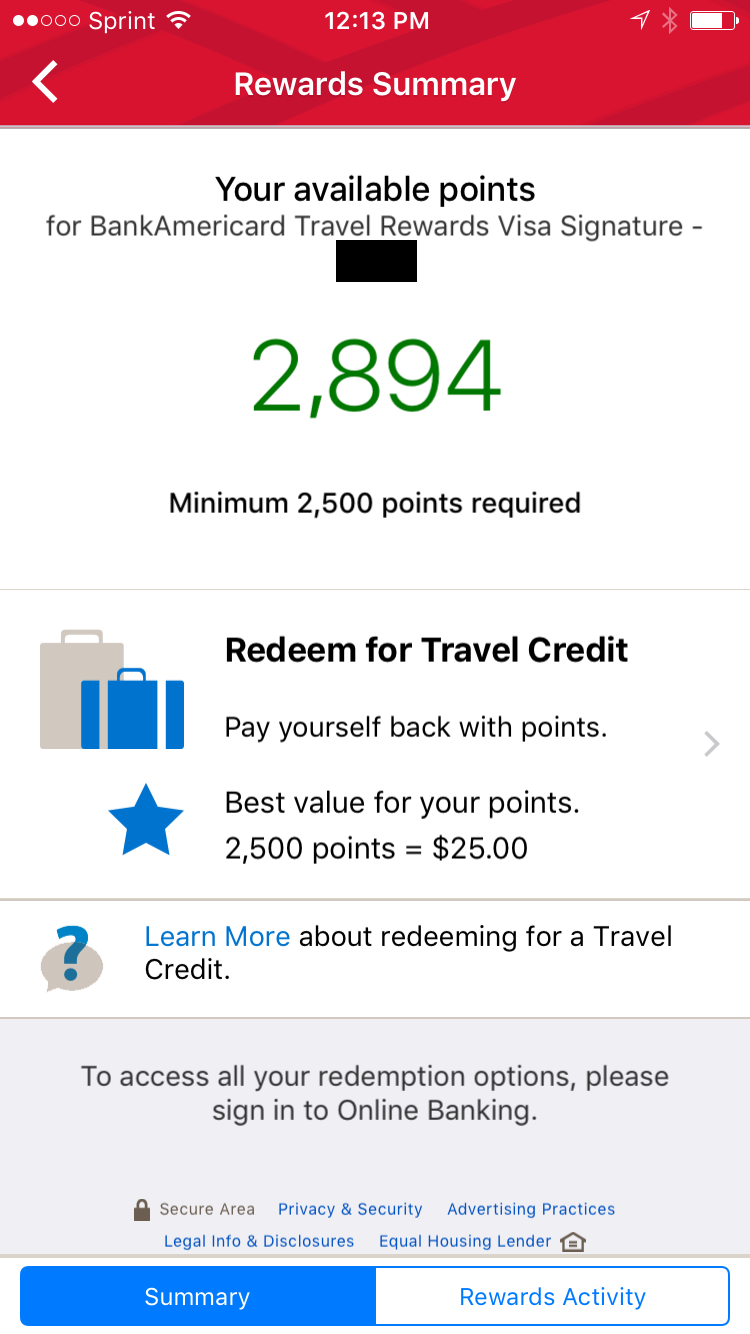 Bank Of America Travel Card Using Points